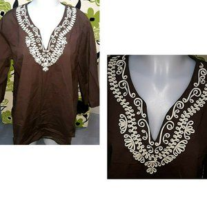 Toffee Apple Tunic XL Blouse Shirt